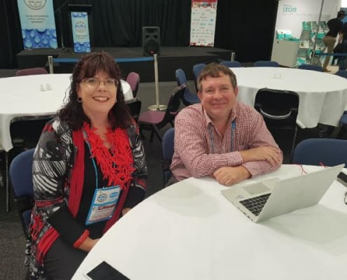 Cathy Hocking (S&B Learner of the Year) enjoys the QLD WIOA Conference